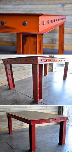 The Firehouse table by Vintage Industrial in Phoenix, Arizona.