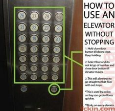 Wish I would have known this about 6 weeks ago.. Cruise ship elevator nightmares