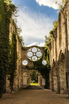 The church at the Abbaye des Vaux de Cernay, France