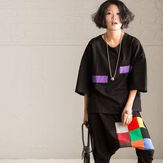 Korean Style Casual Loose T-shirt Women Tops R7129A