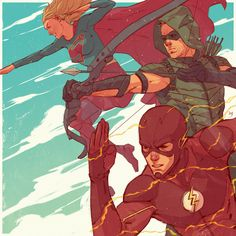 DC-TV-The Arrow, the Flash, and Supergirl by Bryan Valenza