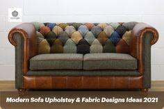 #homedecor #homeimprovements #interiordesign #upholstery #sofaupholstery #upholsteryfabric #upholsteryservices #modernupholstery Automotive Upholstery, Upholstered Sofa, Furniture Upholstery, Pallet Furniture, Cool Furniture, Leather Sofa, Brown Leather, Patchwork Sofa, Pallet Ideas Easy