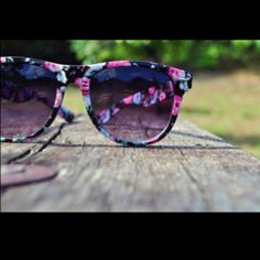 sunglasses. Summer. Shades. Floral. Reflection. Love them.