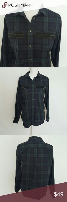 """Jcrew plaid long sleeve Jcrew
