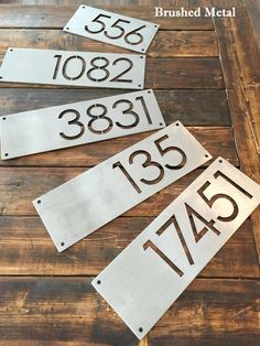 This custom 12 metal house number is sure to add character to your home! These unique stand out pieces give a modern feel to your home and is sure to draw eyes. 12 pieces are 6 tall and can fit 1, 2 or 3 digits. For larger 18 size, see our listing here: https://www.etsy.com/ca/your/shops/ModernRusticMetalArt/tools/ModernRusticMetalArt/ca/listings/sort:price/292829497 Made from thick 1/8 STAINLESS STEEL(except our raw metal opti...