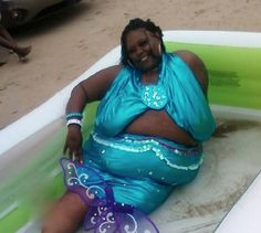Classy Dress Aquamarine Glamor Shot in an Inflatable Pool ---- Best funny, pictures, humor, jokes, hilarious, quotes