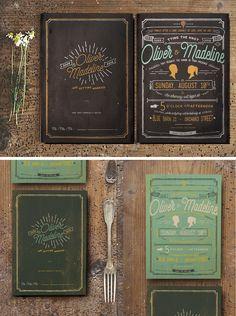 Vintage Hand Lettering Invitation by KlapauciusCo on Creative Market #designtools #design #downloads