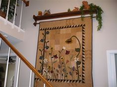 """The Wild Flowers"" quilt from Primitive Gatherings"