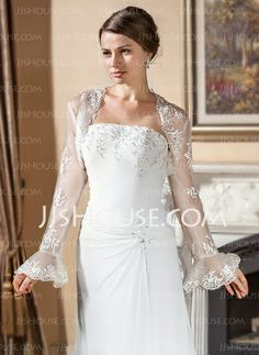 Wraps - $42.99 - Long Sleeve Lace Wedding Wraps (013024560) http://jjshouse.com/Long-Sleeve-Lace-Wedding-Wraps-013024560-g24560