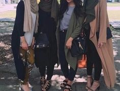 fashion, hijab, and squad image