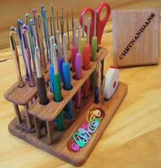 The SlimLine Twin Crochet Hook Organizer Workstation ***NEW FROM…