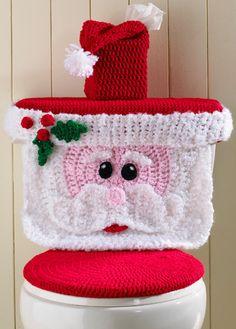 Cubierta de tocador Santa PDF por Maggiescrochet en Etsy