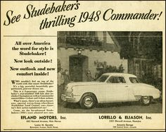 """""""See Studebaker's Thrilling 1948 Commander"""": The Starlight Coupe."""