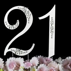 """Elegance by Carbonneau Birthday or Anniversary Crystal Accented Cake Top """"Sparkle """" Monogram Cake Toppers, Wedding Cake Toppers, Wedding Cakes, Crystal Cake, Cake Toppings, Crystal Wedding, Love Photos, 21st Birthday, Bridal Style"""