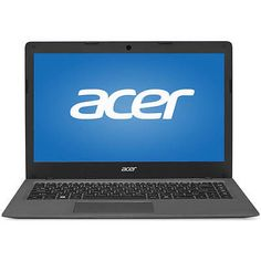"Acer Mineral Gray 14"" Aspire One Cloudbook AO1-431-C8G8 Laptop PC with Intel Cel"