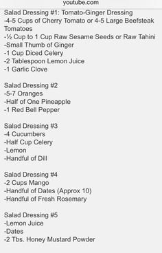 5 Fully Raw Salad Dressing Recipes (pic)
