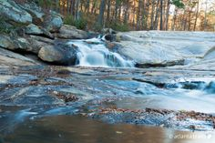 Hike 5.6 miles to the beautiful cascades of the Henry Mill waterfall on the meandering banks of Bear Creek in Cochran Mill Park, 25 miles southeast of Atlanta. #hiking #atlanta #georgia