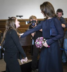 Crown Princess Mary patron of the Christmas Seal Foundation during the presentation of the new Christmas Seal for 2014, at the City Hall of Copenhagen. 27/10/2014