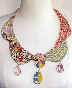 Mari Fray Foster vintage quilt necklace... love this!