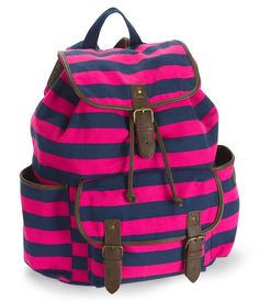 Striped Buckle Backpack - Aeropostale. My new bookbag for this school year <3