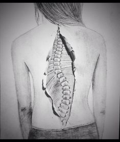 My scoliosis drawing <3