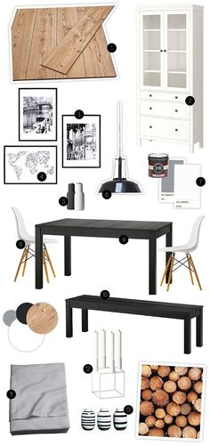 Nordic Living, Flat Ideas, Mood Boards, Office Desk, Dining, Living Room, Interior, Dreams, Furniture