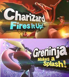 new characters greninja and charizard