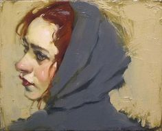 Malcolm Liepke Grey Robe oil on canvas 8 x 10 inches