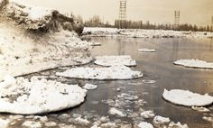 Winter shots at the beach strip. This image shows ice piled up along the beach. Hamilton Ontario Canada, Hamilton Beach, Historical Images, Local History, Image Shows, New Pictures, Wonderful Places, Shots, Ice