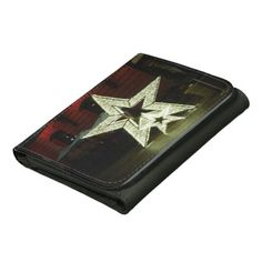 Stars Leather Wallet