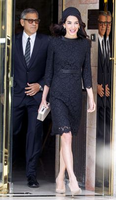 I love the nude shoe with the black lace dress