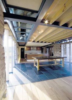 Hillcot Barn's open-plan living area - The Independent