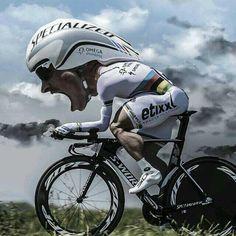 Caricature CRI World Champion Tony Martin. # Cycling