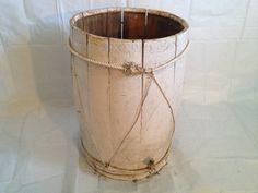 White Wooden Barrel Antique Plant Pot by 1UniqueAntique on Etsy, $50.00
