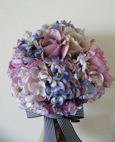 ウェディングフォトに♪ パープルアジサイのラウンドブーケ☆ の画像|Ordermade Wedding Flower Item MY FLOWER ♪ まゆこのブログ