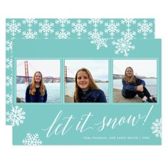 Let It Snow! | Multi Photo Holiday Card - invitations custom unique diy personalize occasions