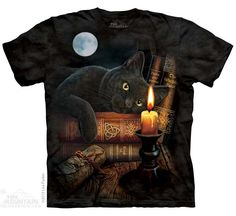 T-shirt | Witching Hour T-shirts  $21.99 This high quality T-shirt is hand dyed and printed in the United States. This is not an iron-on decal that will crack and flake off. The ink is deeply embedded in the fibers which guarantees a long lasting print design and extraordinary comfort.  100% Cotton Pre-shrunk