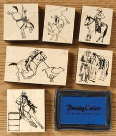 Western/Rodeo Stamp Set - $10.70