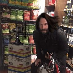 Funny Tweets Keanu Reeves and a fan X