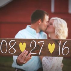 Save The Date Sign Wedding Sign Engagement by DownInTheBoondocks