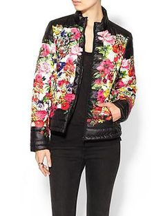 Lucy Paris Floral Print Puffer Jacket | Piperlime