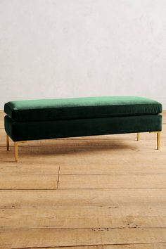 Velvet Edlyn Bench ~ total crush on this bench. it's long and comes in so many colors, I want one in each color for my staging inventory ; Unique Living Room Furniture, Find Furniture, Accent Furniture, Home Furniture, Furniture Design, Bedroom Furniture, Purple Furniture, Sofa Design, Custom Furniture