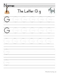 Letter G Handwriting Practice - Have Fun Teaching