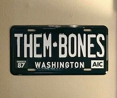 Them Bones license plate Alice In Chains Alice In Chains, Bones, Wonderland, Plates, Cool Stuff, Random, Licence Plates, Dishes, Griddles