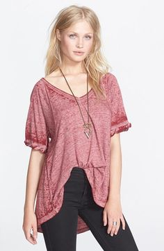 Free+People+'Free+Falling'+Shirttail+V-Neck+Tee+available+at+#Nordstrom