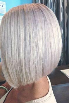 47 Trendy Ideas For Hair Bob Grey Platinum Blonde Blonde Bob Hairstyles, Spring Hairstyles, Pretty Hairstyles, Blonde Hair, Platinum Blonde Bobs, Platinum Hair Color, Medium Hair Styles, Short Hair Styles, Hair Highlights And Lowlights