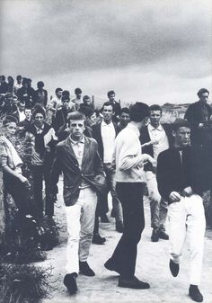 Mod crowd in Hastings, England, 1964