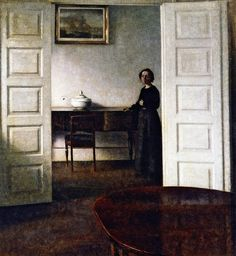 Vilhelm Hammershøi - Interior, Bredgade +
