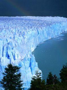 Overhead of Perito Moreno Glacier with Rainbow, Los Glaciares National Park, Argentina    by Wes Walker