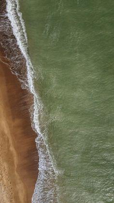 Clean n exotic sea, aerial view, beach, 2160x3840 wallpaper